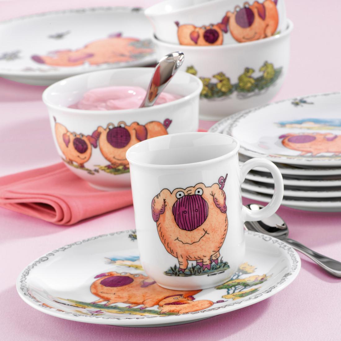 Сервиз детский 3 предмета Piggeldy Мир Посуды - все для баров и рестаранов, посуда оптом. P4L23K71