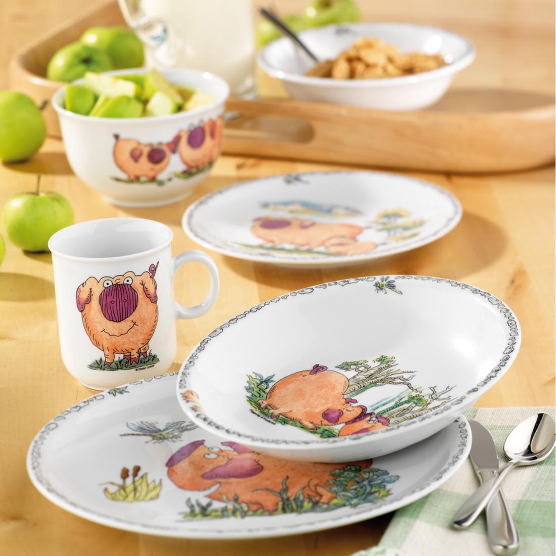 Сервиз детский 3 предмета Piggeldy Мир Посуды - все для баров и рестаранов, посуда оптом. 2B4KGF33